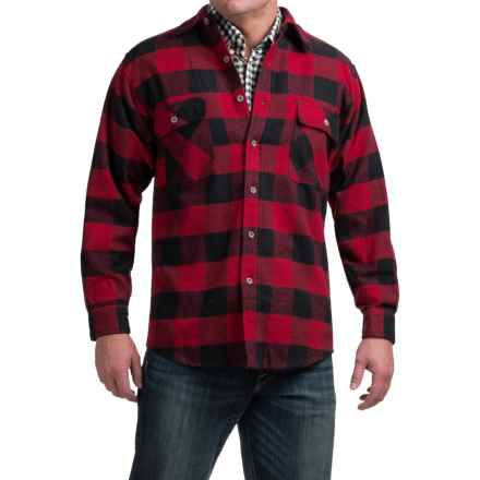 Moose Creek Brawny Plaid Shirt - 9 oz. Flannel, Long Sleeve (For Men) in Red - Closeouts