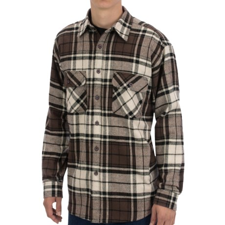 Moose Creek Brawny Plaid Shirt 9 oz. Flannel, Long Sleeve (For Men)