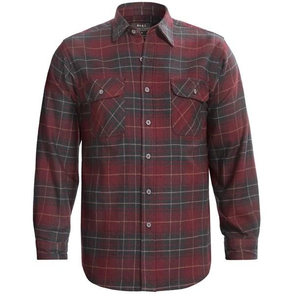 Moose creek brawny plaid shirt for men 5959w save 80 for 9 oz flannel shirt