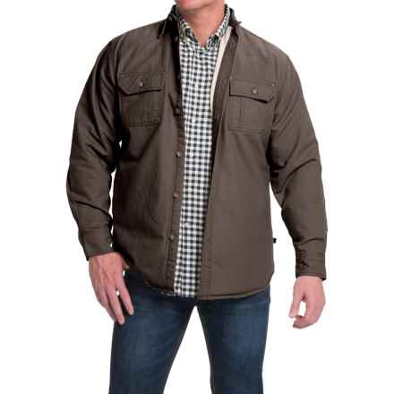 Moose Creek Canvas Shirt Jacket - Fleece Lined (For Men) in Cigar - Closeouts