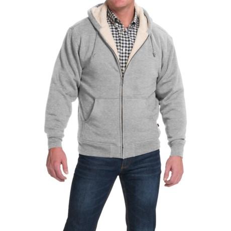 Moose Creek Carbon Creek Hoodie Jacket - Fleece Lining (For Men) in Light Grey Heather