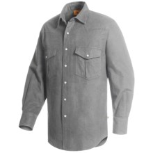 Moose Creek Chamois Western Shirt - Long Sleeve (For Men) in Grey - Closeouts
