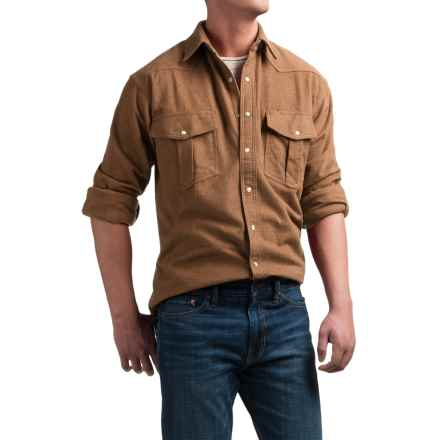 Moose Creek Chamois Western Shirt - Snap Front, Long Sleeve (For Men) in Earth - Closeouts