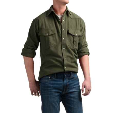 Moose Creek Chamois Western Shirt - Snap Front, Long Sleeve (For Men) in Loden - Closeouts