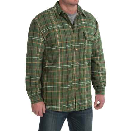 Moose Creek Chinook Twisted Flannel Shirt Jacket - Snap Front (For Men) in Hunter - Closeouts