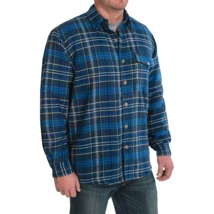 Moose Creek Chinook Twisted Flannel Shirt Jacket - Snap Front (For Men) in Navy - Closeouts