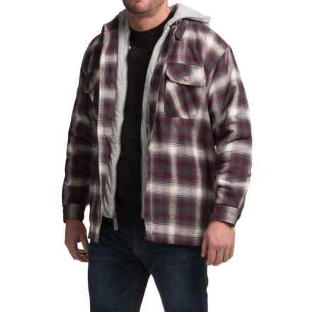 Moose Creek Dakota Flannel Shirt Jacket - Hooded (For Men) in Brick - Closeouts
