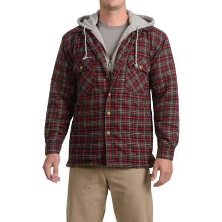 Moose Creek Dakota Flannel Shirt Jacket - Hooded (For Men) in Coal - Closeouts
