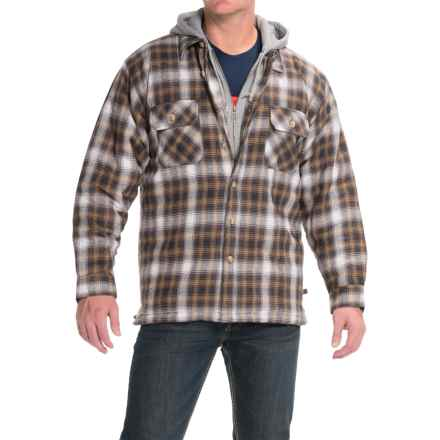 Moose Creek Dakota Flannel Shirt Jacket - Hooded (For Men) in Earth - Closeouts