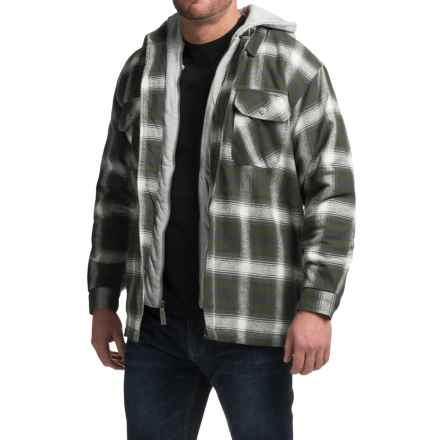Moose Creek Dakota Flannel Shirt Jacket - Hooded (For Men) in Jade - Closeouts