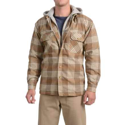 Moose Creek Dakota Flannel Shirt Jacket - Hooded (For Men) in Khaki - Closeouts
