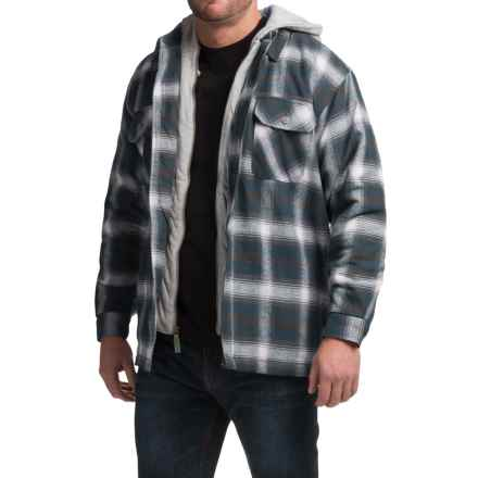 Moose Creek Dakota Flannel Shirt Jacket - Hooded (For Men) in Navy - Closeouts