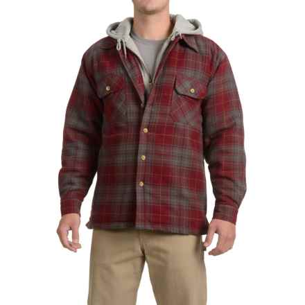 Moose Creek Dakota Flannel Shirt Jacket - Hooded (For Men) in Red - Closeouts
