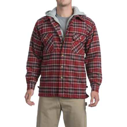 Moose Creek Dakota Flannel Shirt Jacket - Hooded (For Men) in Ruby - Closeouts