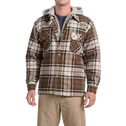 Moose Creek Dakota Flannel Shirt Jacket - Hooded (For Men) in Wheat - Closeouts