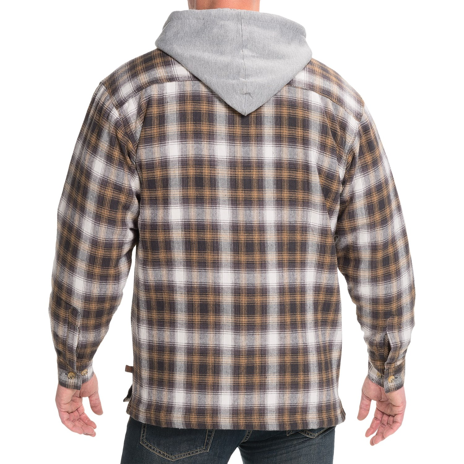 Moose Creek Dakota Flannel Shirt Jacket (For Men) - Save 53% : quilted flannel jacket with hood - Adamdwight.com