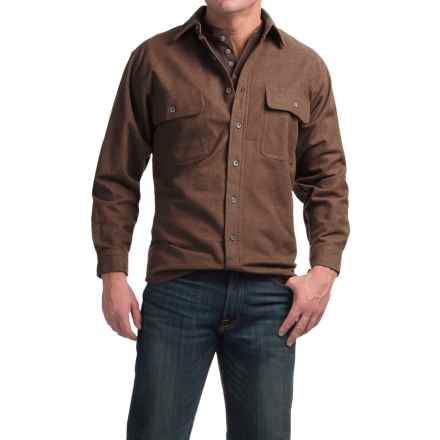 Moose Creek Heather Chamois Shirt - 9 oz., Long Sleeve (For Men) in Brown - Closeouts
