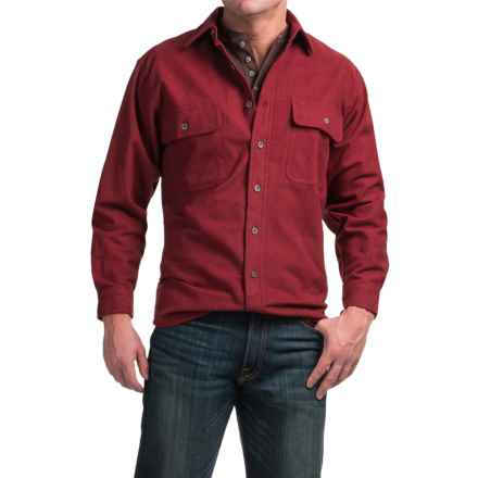 Moose Creek Heather Chamois Shirt - 9 oz., Long Sleeve (For Men) in Burgundy - Closeouts