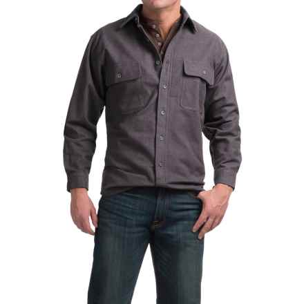 Moose Creek Heather Chamois Shirt - 9 oz., Long Sleeve (For Men) in Coal - Closeouts