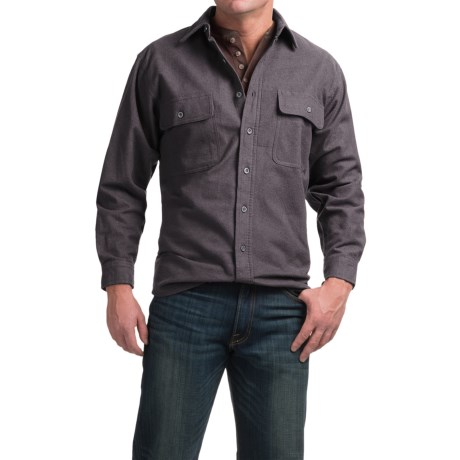 Moose Creek Heather Chamois Shirt - 9 oz., Long Sleeve (For Men) in Coal
