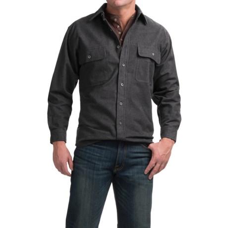 Moose Creek Heather Chamois Shirt - 9 oz., Long Sleeve (For Men) in Dark Charcoal