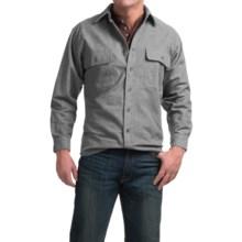 Moose Creek Heather Chamois Shirt - 9 oz., Long Sleeve (For Men) in Grey - Closeouts
