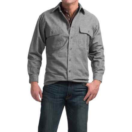 Moose Creek Heather Chamois Shirt - 9 oz., Long Sleeve (For Men) in Grey - Closeouts