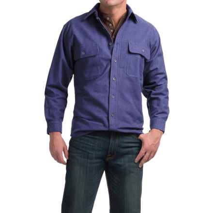 Moose Creek Heather Chamois Shirt - 9 oz., Long Sleeve (For Men) in Indigo - Closeouts