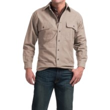 Moose Creek Heather Chamois Shirt - 9 oz., Long Sleeve (For Men) in Khaki - Closeouts
