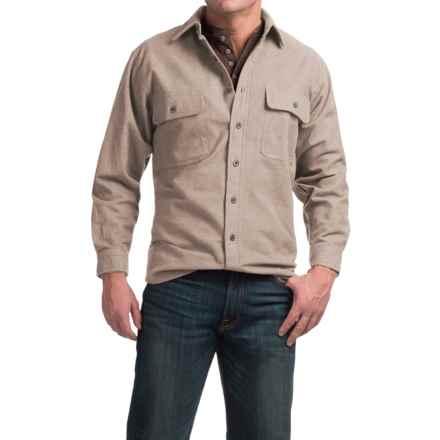 Moose Creek Heather Chamois Shirt - 9 oz., Long Sleeve (For Men) in Khaki - Closeouts