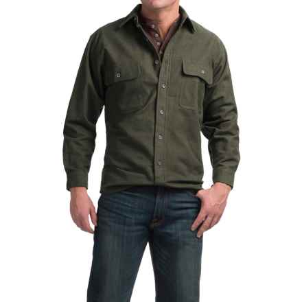 Moose Creek Heather Chamois Shirt - 9 oz., Long Sleeve (For Men) in Loden - Closeouts