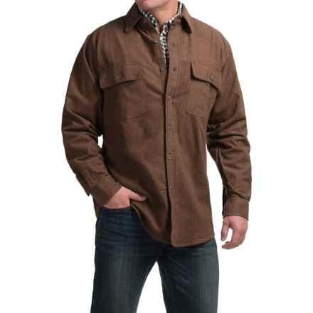 Moose Creek Heather Chamois Shirt - Long Sleeve (For Tall Men) in Brown - Closeouts