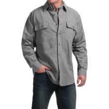 Moose Creek Heather Chamois Shirt - Long Sleeve (For Tall Men) in Grey - Closeouts