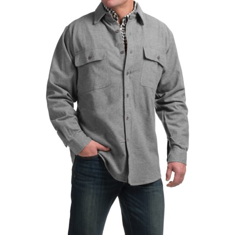 Moose Creek Heather Chamois Shirt Long Sleeve (For Tall Men)