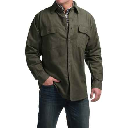 Moose Creek Heather Chamois Shirt - Long Sleeve (For Tall Men) in Loden - Closeouts