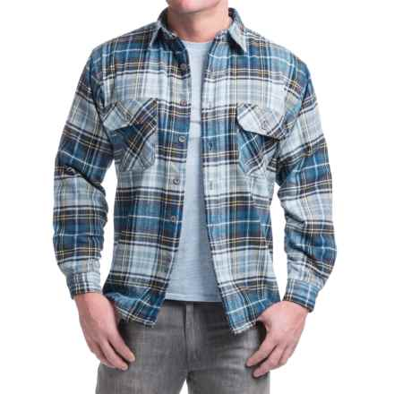 Moose Creek Ponderosa Flannel Shirt Jacket - Long Sleeve (For Men) in Azul - Closeouts