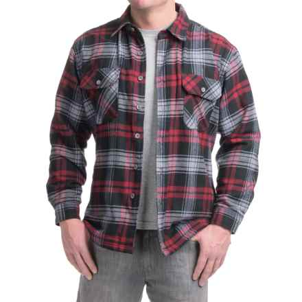 Moose Creek Ponderosa Flannel Shirt Jacket - Long Sleeve (For Men) in Rojo - Closeouts