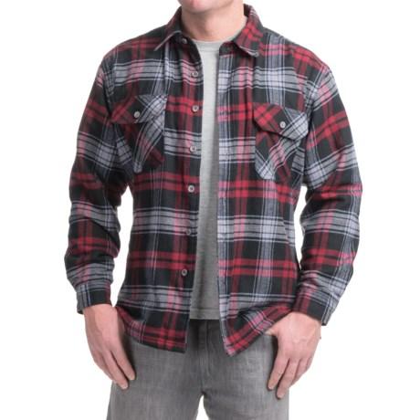 Moose Creek Ponderosa Flannel Shirt Jacket - Long Sleeve (For Men) in Rojo