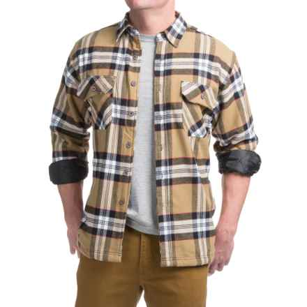 Moose Creek Ponderosa Shirt Jacket - Flannel, Long Sleeve (For Men)  in Wheat - Closeouts