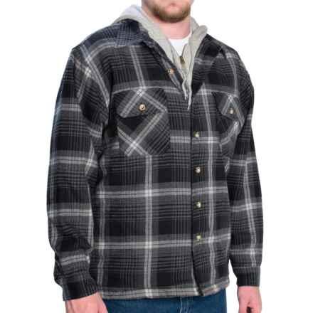 Moose Creek Quilted Hoodie Sweatshirt - Dakota II (For Men) in Black/Grey - Closeouts