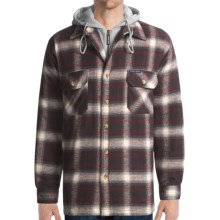 Moose Creek Quilted Hoodie Sweatshirt - Dakota II (For Men) in Brick - Closeouts