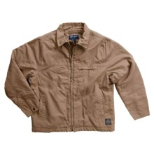 Moose Creek Rigger II Cotton Canvas Jacket - Quilt Lined (For Men) in Buck - Closeouts
