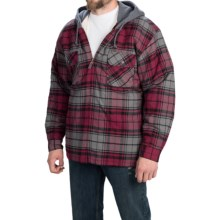 Moose Creek Shasta Hoodie (For Men) in Burgandy Plaid - Closeouts
