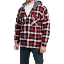 Moose Creek Shasta Hoodie (For Men) in Red Plaid - Closeouts