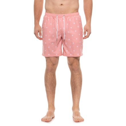 16f56fb217632 Mosmann Light Pink Palms Swim Trunks (For Men) in Light Pink - Closeouts