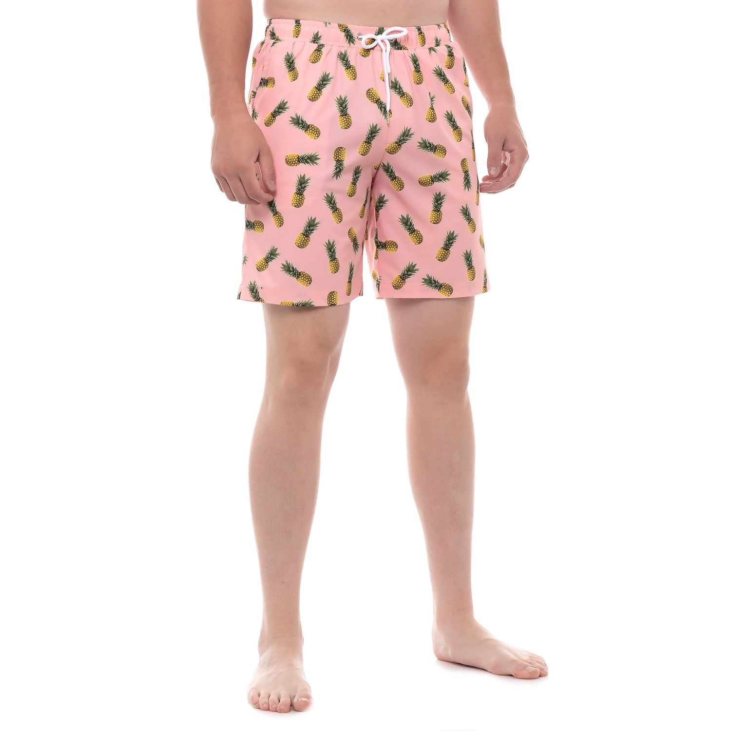 88b4a3dc63 Mosmann Pineapple Print Swim Trunks (For Men) in Blush ...
