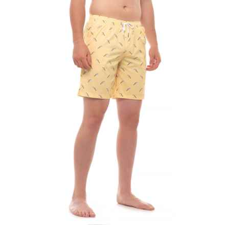 Mosmann Whipped Ice Cream Print Swim Trunks (For Men) in Yellow - Closeouts