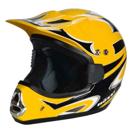 Mossi MX-1 Motorcycle Helmet D.O.T. in Yellow - Closeouts