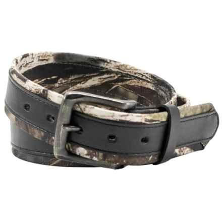 Mossy Oak Break-Up® Belt - Stitched Overlay (For Men) in Camo/Black - Closeouts