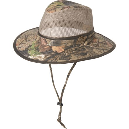 00654922 Mossy Oak Brushed Twill Safari Hat - UPF 50+ (For Men) in Mossy